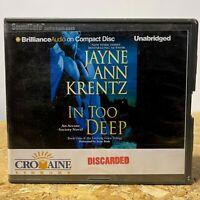 In Too Deep by Jayne Ann Krentz Ex Library 8 CD Unabridged Audiobook Free Ship