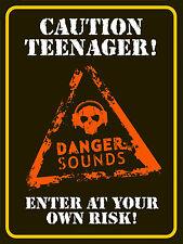 Caution Teenager , Retro metal Aluminium Sign vintage kids Bedroom Door