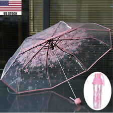 Transparent Umbrella Cherry Blossom Mushroom Apollo Sakura Pink Umbrella Hot
