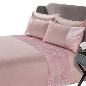 Crushed Velvet Duvet Quilt Cover Pillowcase Bedding Set Single Double King Size