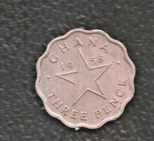 GHANA 3 PENCE 1958