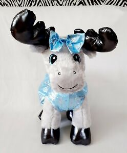 "Build-A-Bear Grey Gust Moose 14 "" Plush Silver Raindeer & Outfit"