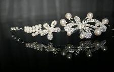 Perle Bijoux de cheveux cristal diadème mariage mariée princesse strass