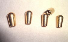 Five Lot Gold Metal Import Toggle Switch Tips by MIGHTY MITE  Electric Guitar