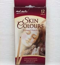 Mont Marte 12pc  Skin Colour Pencils Skin Tones Pencils Artist Arts Craft