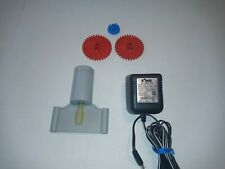 KNEX 12v Motor With AC Adapter Gears & Extras