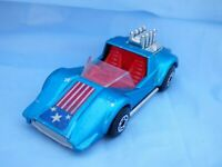1975 Matchbox Superfast N 55 Hellraiser Pop Out Engine Blue Car Toy Red Seat
