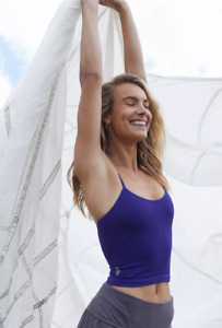 NEW Free People Movement Seamless Tighten Up Crop Top in Purple M/L $30 | FF-039