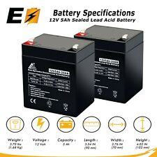 12V 5AH SLA Battery Replacement for Enduring 6-DW-5 - 2 Pack