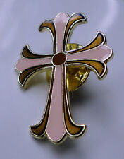 ZP126 Crusader Cross Pin Badge Church Gothic Ancient Christian Biker