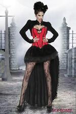SEXY completo costume donna VAMPIRO 4 pezzi TG. DALLA 40 ALLA 50  party DARK!