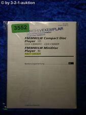Sony Bedienungsanleitung CDX C8000RX /C8000R / MDX C8500R (#3552)