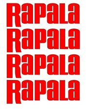 Rapala Decals set 4 Bass Catfish Trout Lure Hooks Sticker Swimbait Windshield