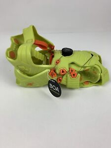 Korkers Ice Running Unisex Ice Cleats - BOA-L6 Lacing - Green/Orange size medium