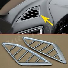 2pcs ABS Chrome Air Condition Vent Cover Dashboard Cover Trim For Mazda3 2014-17