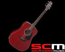 Takamine D2d WR Dreadnought Acoustic Guitar Wine Red Finish
