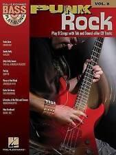 NEW Punk Rock: Bass Play-Along Volume 8 by Hal Leonard Corp.