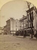 c. 1860's Unknown American Main Street Stereoview Photo