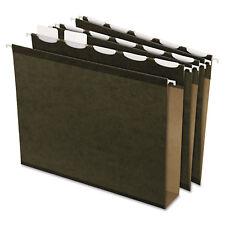 "Pendaflex Ready-Tab Hanging File Folders 2"" Capacity 1/5 Tab Letter Green 20/Box"