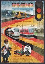Trains, Railroads Miniature Sheets Postal Stamps