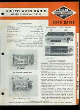 Rare 1954 Philco P-5506 C-5509 Mopar 832 835 Automotive AM Radio Service Manual