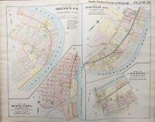 1900 ELIZABETH TWP PITTSBURGH PA YOUGH VALLEY SCHOOL G.M. HOPKINS COPY ATLAS MAP