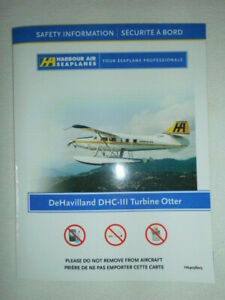 SAFETY CARD HARBOUR AIR SEAPLANES DHC-III TURBINE OTTER