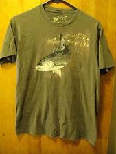GUY HARVEY Fishing Off the Boat T Shirt Medium Brown SOFT!!