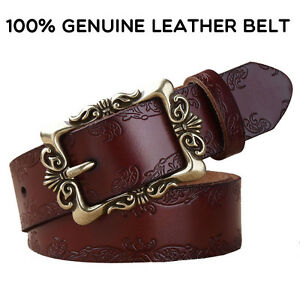New Top Quality Fashion Leisure Womens 100% Genuine Leather Belts Retro Belt