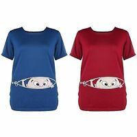 Shirt Umstandsmode Umstandsshirt Kurzarm Schwangerschaft T-Shirt lustig NEU