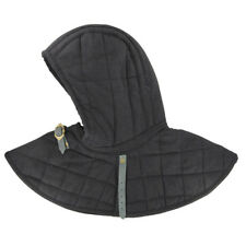 New listing Medieval Renaissance Cotton Padded Collar Armor And Cap Black