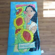 Vintage 90s Disney Pocahontas Sleeping Bag Youth Sized Slumber Party
