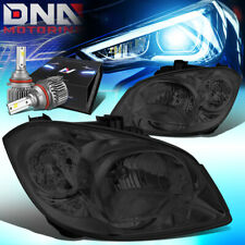 FOR 2005-2010 COBALT/PONTIAC HEADLIGHT HEAD LAMPS W/LED KIT SLIM STYLE SMOKED