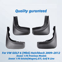 FOR VW Golf Wagon 6 Jetta Sportwagen MK6 2009 - 2014 KIT MUD FLAPS SPLASH GUARD