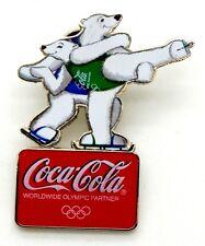 Pin Spilla Olimpiadi Torino 2006 - Coca-Cola Orsi Pattinatori