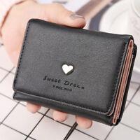 Women Lady Girl's Leather Clutch Short Wallet PU Card Holder Purse Handbag Bags