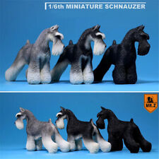 Mr.Z 1/6 Standard Schnauzer Dog Pet Figure Animal Toy Collector Decor Xmas Gift