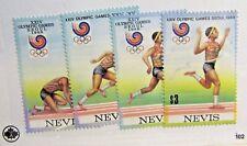 NEVIS Sc #569a-d ** MNH, Olympics track & field postage stamp set Fine +