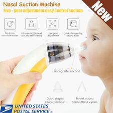 Electric Baby Nasal Aspirator Snot Sucker NoseNasal Suction Machine Yellow