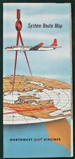 Northwest Orient Airlines - 1958 System Route Map Book