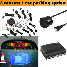 8Parking Sensor Buzzer Alarm System Car Rear Reversing Screen 4 Led Displayer AU
