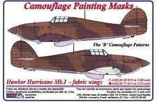 AML Models 1/72 CAMOUFLAGE PAINT MASKS HAWKER HURRICANE Mk.I FABRIC WINGS B PATT