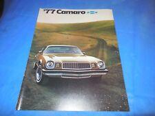1977 CAMARO ORIGINAL SALES BROCHURE!! SUPER PHOTOS AND INFORMATION!MUST SEE!