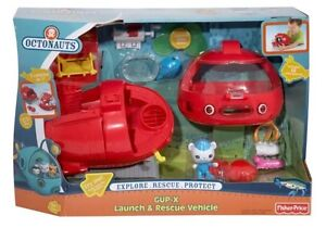 Octonauts Gup X Launch Rescue Vehicle 3-in-1 Barnacles Octo Ski Fisher Price NEW
