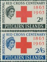 Pitcairn Islands 1963 SG34-35 Red Cross set MNH
