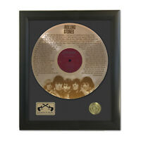 Rolling Stones Can't Get No Satisfact Laser Etched Gold LP Record Framed Display