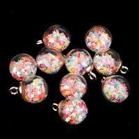 20pcs Colorful Stars Glass Ball Charms DIY Pendant Necklace Earrings Finding