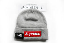 Supreme x New Era Box Logo Beanie Gray World Famous
