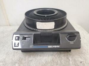 Kodak Carousel 5200 Slade Projector w/ Slide Carousel No Lens