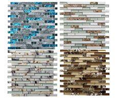 12x12 Glass Natural Marble Mosaic Tile for Bathroom Shower Kitchen Backsplash